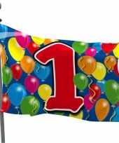 1 jaar feestartikelen vlag feestje