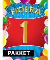 1 jarige feestversiering pakket feestje