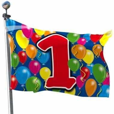 1 jaar feestartikelen vlag- feestje!