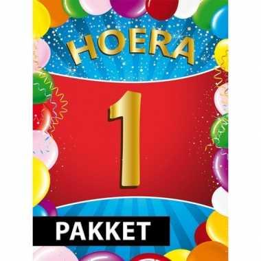 1 jarige feestversiering pakket- feestje!