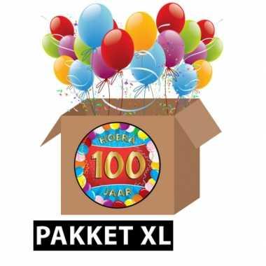 100 jarige feestversiering pakket xl feestje