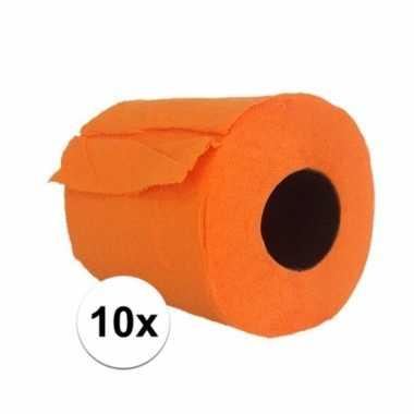 10x feest oranje toiletpapier- feestje!