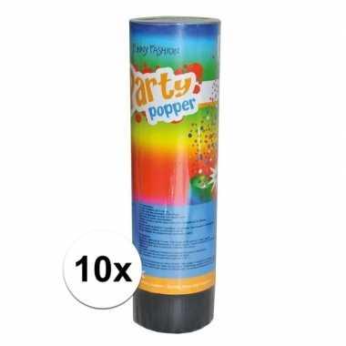 10x feest poppers 15 cm- feestje!