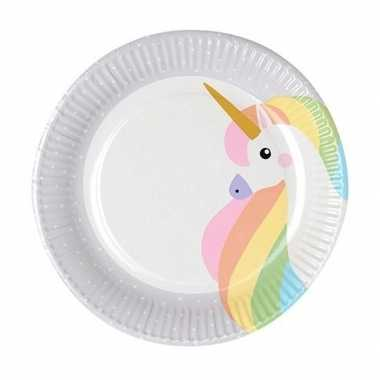 10x kinderfeest unicorn wegwerp bordjes- feestje!