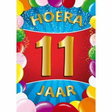 11 jaar mega deurposter 59 x 84 cm leeftijd verjaardag feestartikelen- feestje!