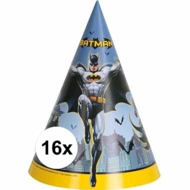 16x batman themafeest punthoedjes- feestje!