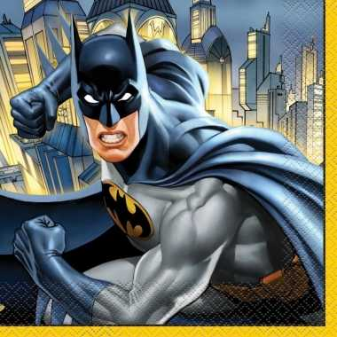 16x batman themafeest servetten 33 x 33 cm- feestje!
