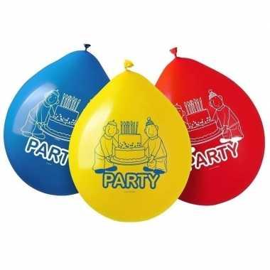 16x buurman & buurman feest thema ballonnen- feestje!