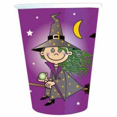 16x papieren bekertjes heksen feest- feestje!