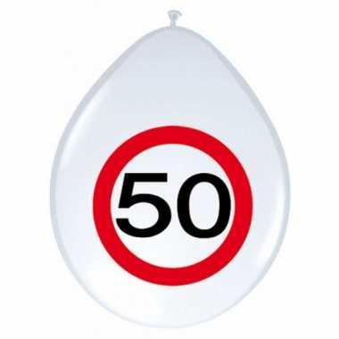 16x stuks feest ballonnen 50 jaar- feestje!