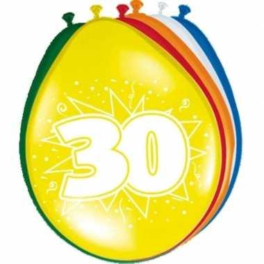 16x stuks feest ballonnen van 30 jaar- feestje!