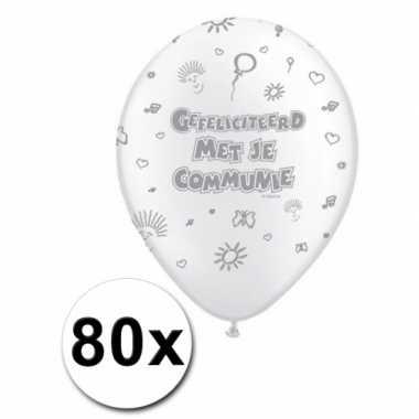 1e communie feest ballonnen actiepakket feestje