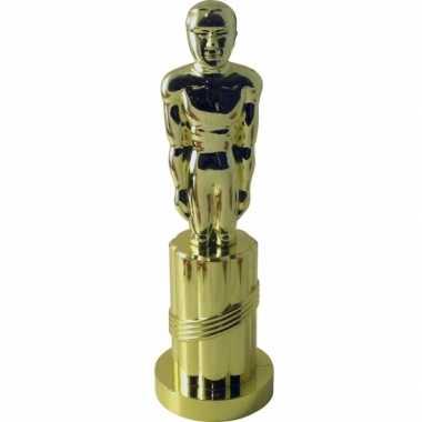 1x gouden award beeldje 24 cm feestartikelen- feestje!