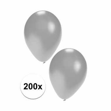200 stuks zilveren feest ballonnen- feestje!