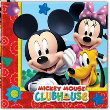 20x mickey mouse themafeest servetten 33 x 33 cm papier feestje