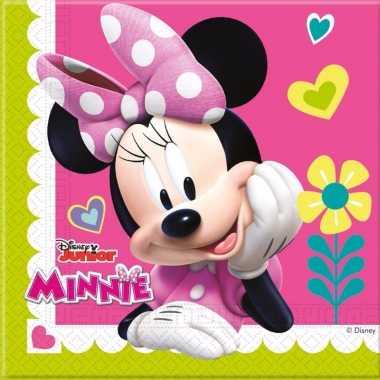 20x minnie mouse themafeest servetten 33 x 33 cm papier- feestje!