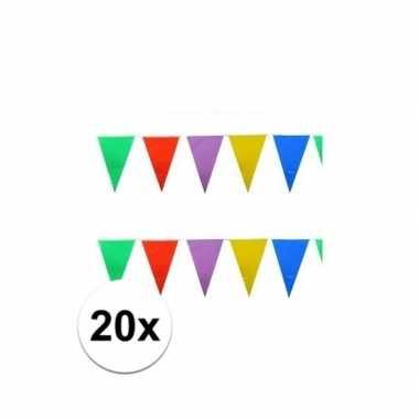 20x stuks feest vlaggenlijnen 10 meter- feestje!