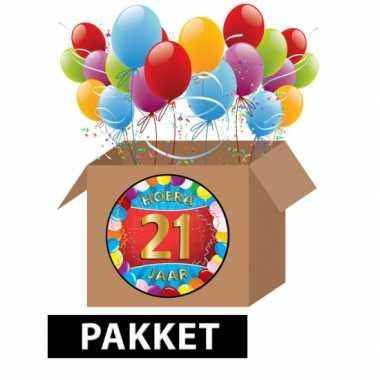 21 jarige feestversiering pakket- feestje!