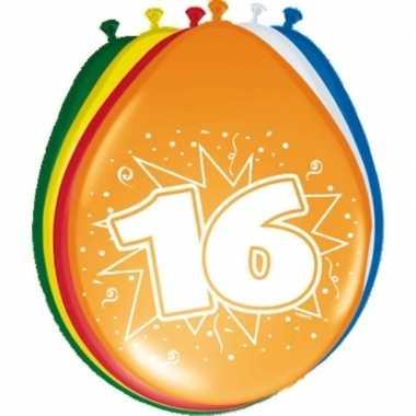 24x stuks ballonnen 16 jaar feestje- feestje!