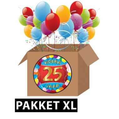 25 jarige feestversiering pakket xl- feestje!