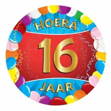 25x gekleurde onderzetters 16 jaar feestartikelen- feestje!