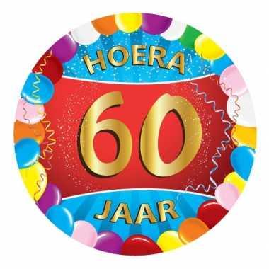 25x stuks gekleurde bierviltjes 60 jaar feestartikelen- feestje!