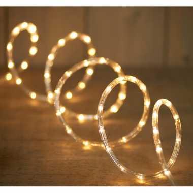 2x feestverlichting lichtslang met 216 warm witte lampjes 9 m- feestj