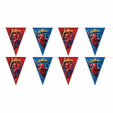 2x marvel spiderman themafeest vlaggenlijnenen 230 cm- feestje!