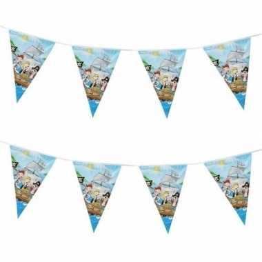 2x piratenfeestje blauwe vlaggenlijnen 3 m- feestje!