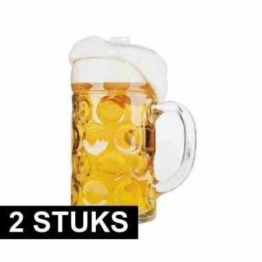 2x versiering bierfeest kartonnen bierpul- feestje!
