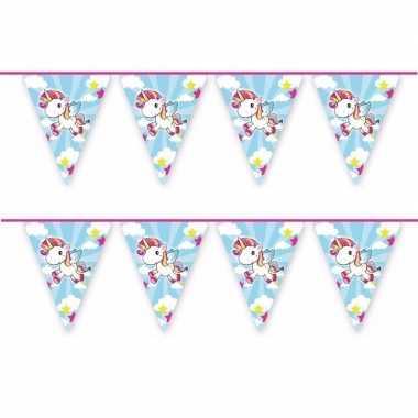 2x vlaggenlijn eenhoorn thema feestje 10 mtr- feestje!