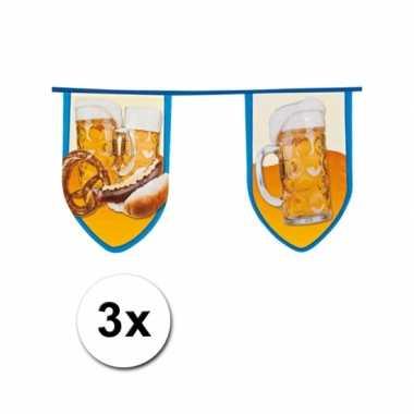 3 stuks bier feest slinger 8 meter- feestje!