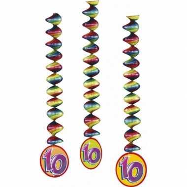 3x feestartikelen 10 jaar spiraal- feestje!