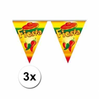 3x feestartikelen vlaggenlijn fiesta- feestje!