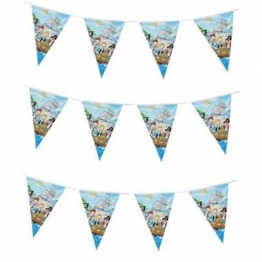 3x piratenfeestje blauwe vlaggenlijnen 3 m- feestje!
