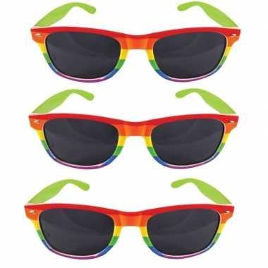 3x regenboog feest brillen voor volwassenen- feestje!