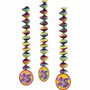 3x rotorspiralen 25 jaar versiering feestartikelen- feestje!