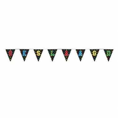 3x vlaggenlijnen geslaagd thema feestartikelen 4 meter- feestje!