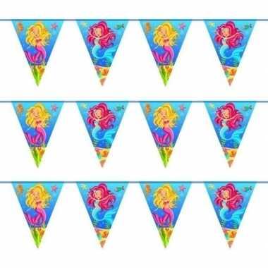 3x zeemeermin themafeest vlaggenlijnen 10 meter- feestje!
