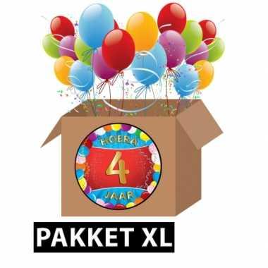 4 jarige feestversiering pakket xl- feestje!
