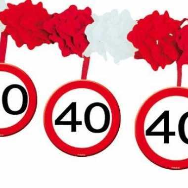 feestje 40 jaar Huldeborden slinger 40 jaar   Teylingen feestje 40 jaar