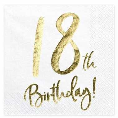 40x 18 jaar leeftijd versiering feest servetten 33 cm- feestje!