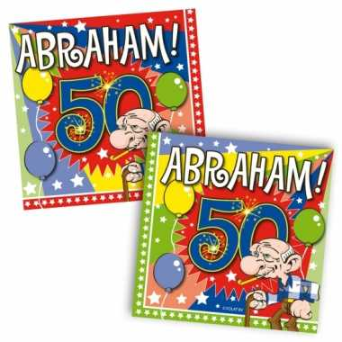 40x 50 jaar abraham leeftijd feest servetten 25 x 25 cm- feestje!