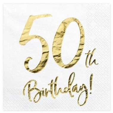 40x 50 jaar leeftijd versiering feest servetten 33 cm- feestje!