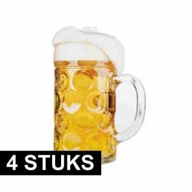 4x versiering bierfeest kartonnen bierpul- feestje!