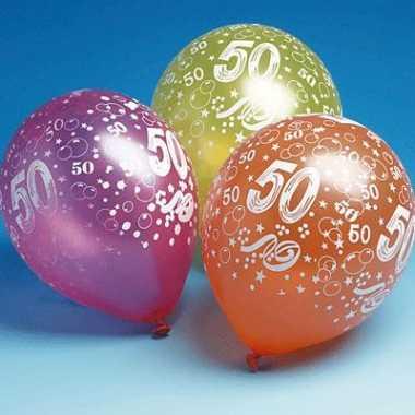 50 jaar feest ballonnen 5 stuks- feestje!
