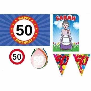 50 jaar versiering feestpakket sarah - feestje!