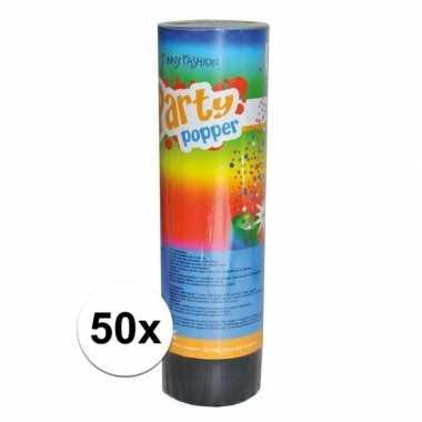 50x feest poppers 15 cm- feestje!
