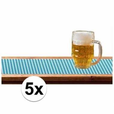 5x tafellopers oktoberfest/bierfeest versiering 65 x 600 cm- feestje!