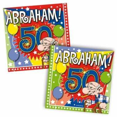 60x 50 jaar abraham leeftijd feest servetten 25 x 25 cm- feestje!